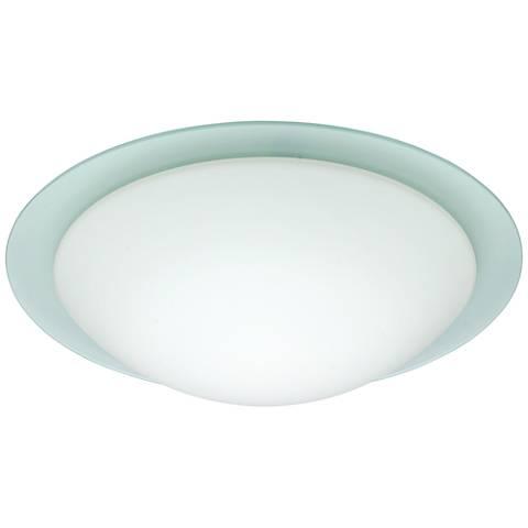 """Besa Ring 19"""" Wide White Ceiling Light"""