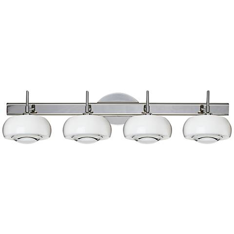 "Besa Focus 30 3/4"" Wide Chrome Bath Light w/ Clear Shade"