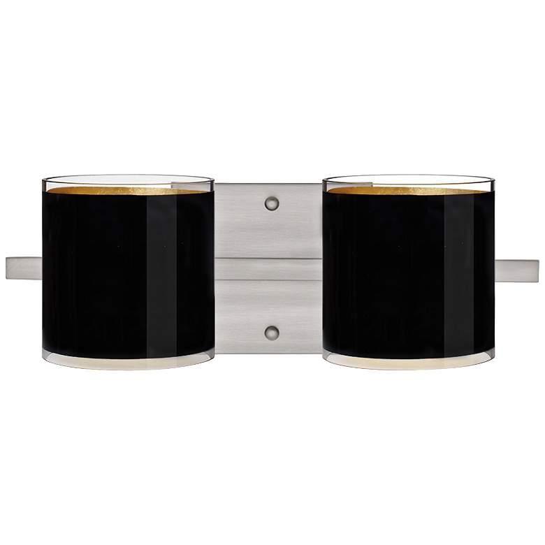 "Besa Pogo 15"" Wide Black Bathroom Light"