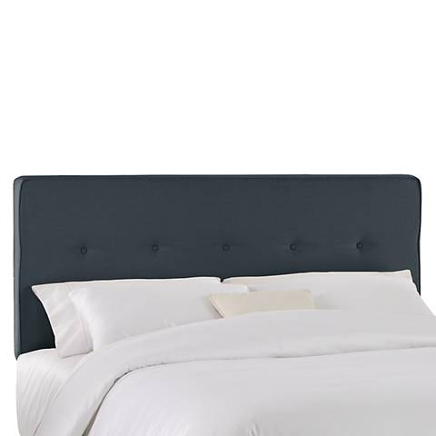 Chambers Navy Five Button Headboard