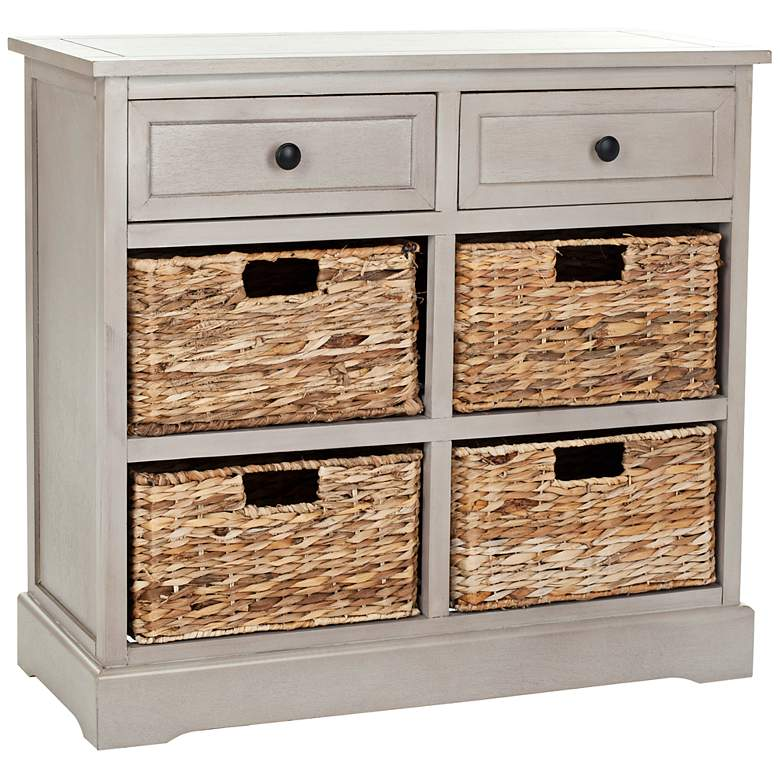 "Reynolds 29"" Wide Gray 2-Drawer Wood Storage Unit"