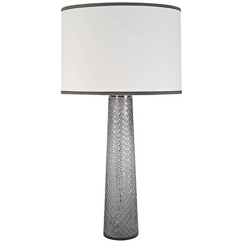 Jamie Young Pillar Gray Table Lamp