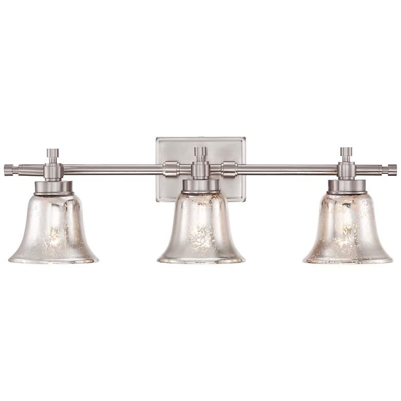"Varra 26 1/2"" Wide 3-Light Mercury Glass Bath Light"