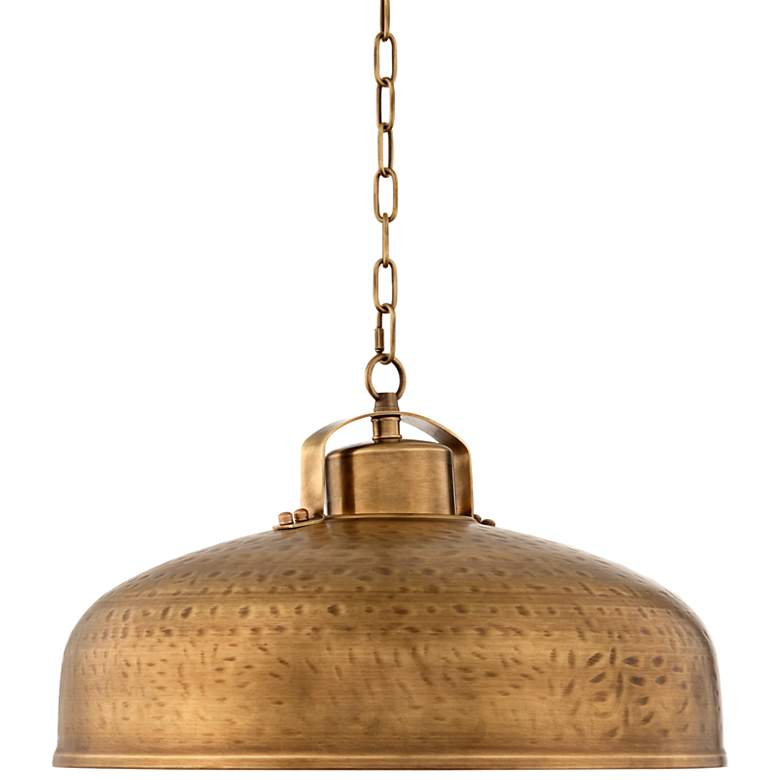 "Essex 18"" Wide Dyed Brass Metal Pendant Light"