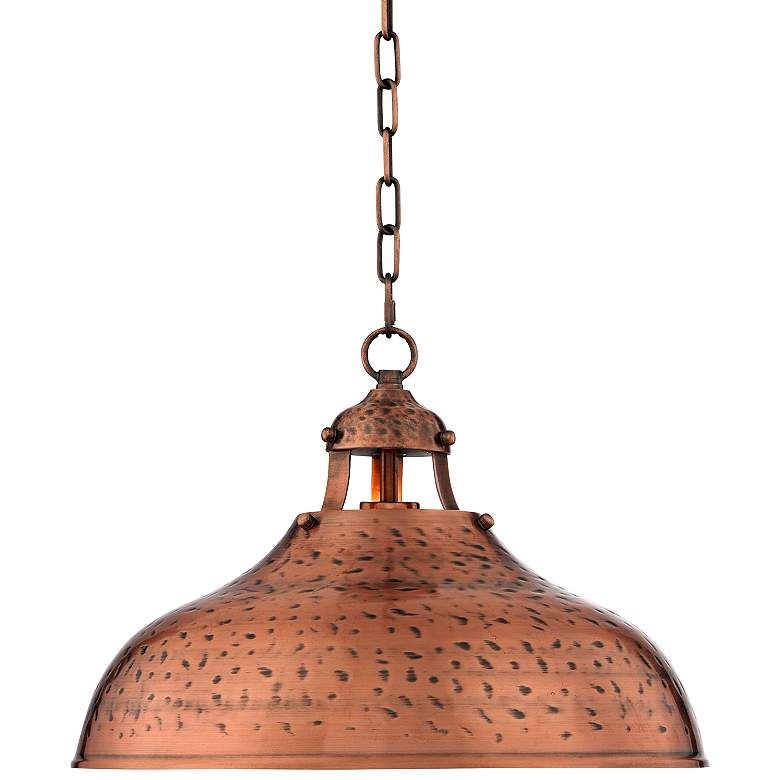 """Essex 16"""" Wide Dyed Copper Metal Pendant Light"""