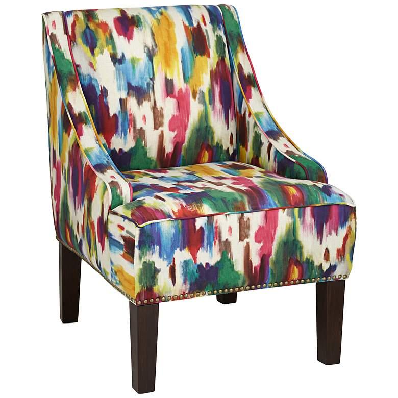 Aurora Multicolor Swoop Arm Chair