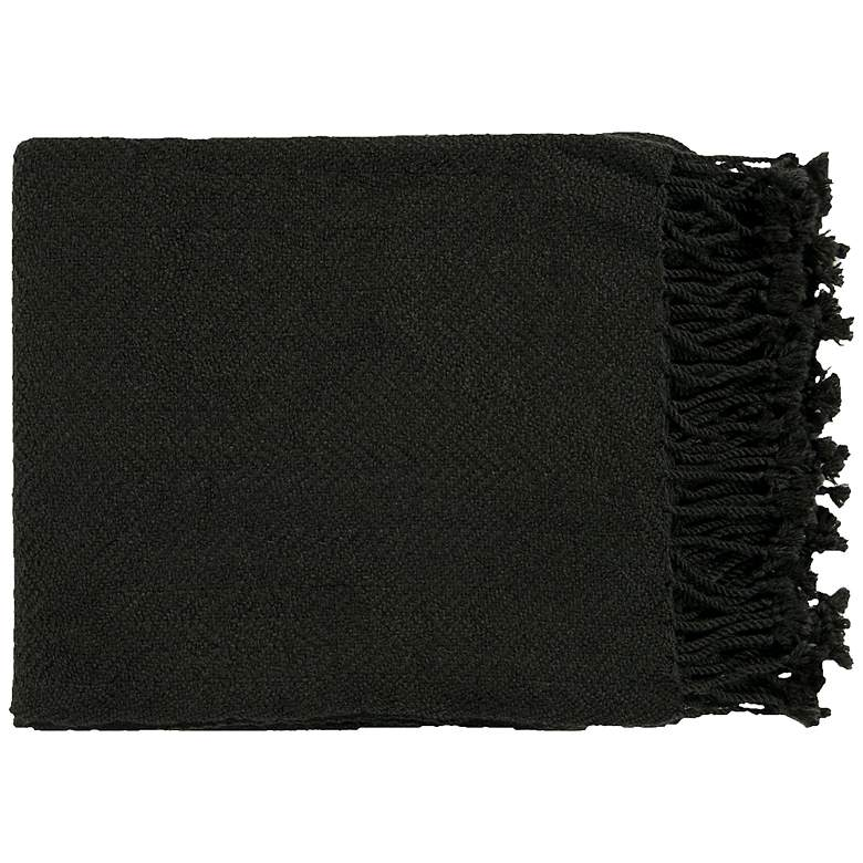 Surya Turner Collection Black Throw
