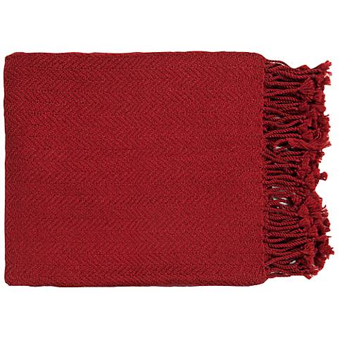 Surya Turner Collection Red Throw