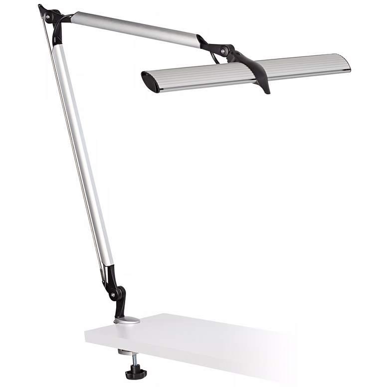 Skape Silver LED Clamp Desk Lamp
