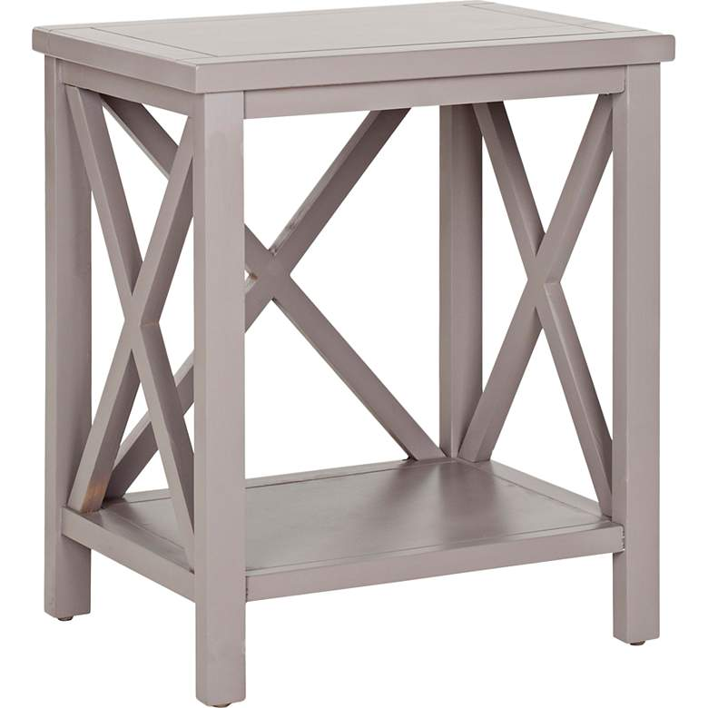 "Delaina 18"" Wide Gray Wood End Table"