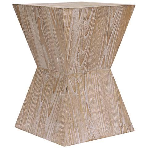 Martil Distressed Oak Wood Side Table