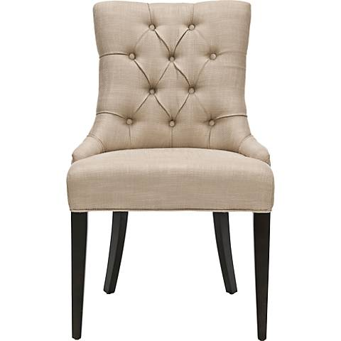Maria Gold Linen Upholstered Chair