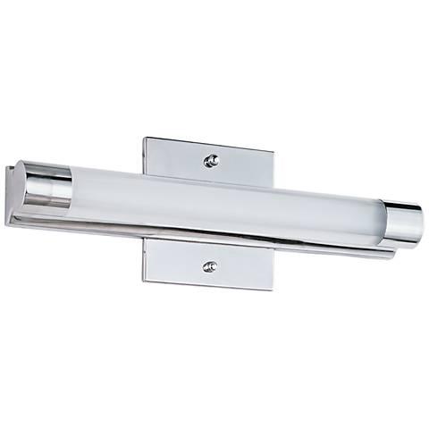 """ET2 Wand 14"""" Wide Polished Chrome LED Bathroom Light"""