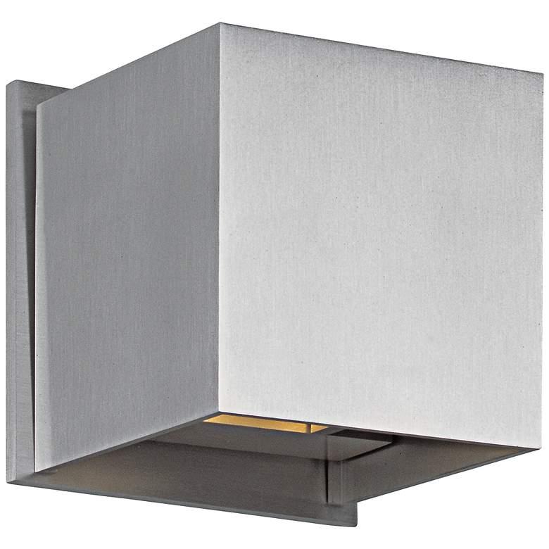 "ET2 Alumilux 4 1/2"" Wide Satin Aluminum LED Square Sconce"