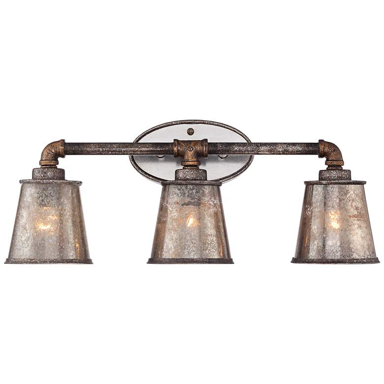 "Fillmore 23 1/4"" Wide Industrial Rust 3-Light Bath Fixture"