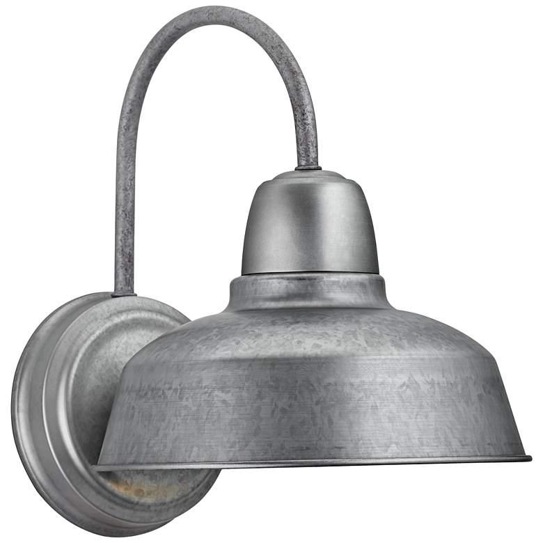 "Urban Barn 13"" High Galvanized Steel Outdoor Wall Light"