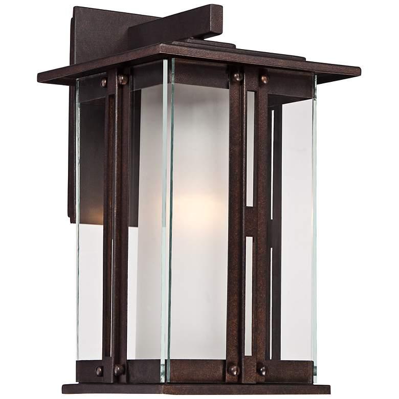 """Fallbrook Collection 13"""" High Bronze Outdoor Wall Light"""