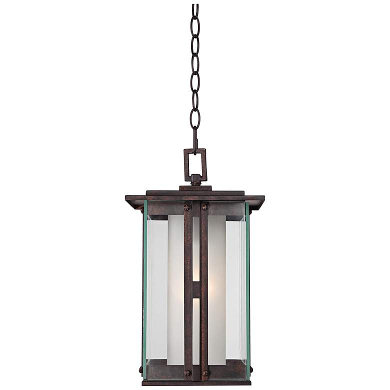 "Fallbrook Collection 15 3/4""H Bronze Outdoor Hanging Light"