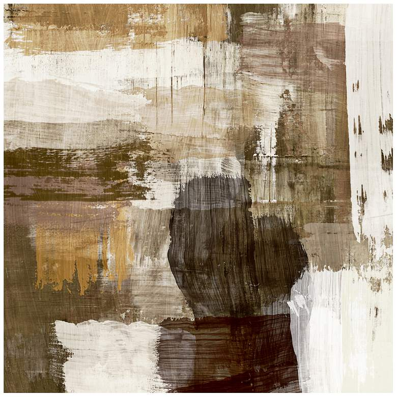 """Abstract Warm Neutral Canvas 20"""" Square Giclee Wall Art"""