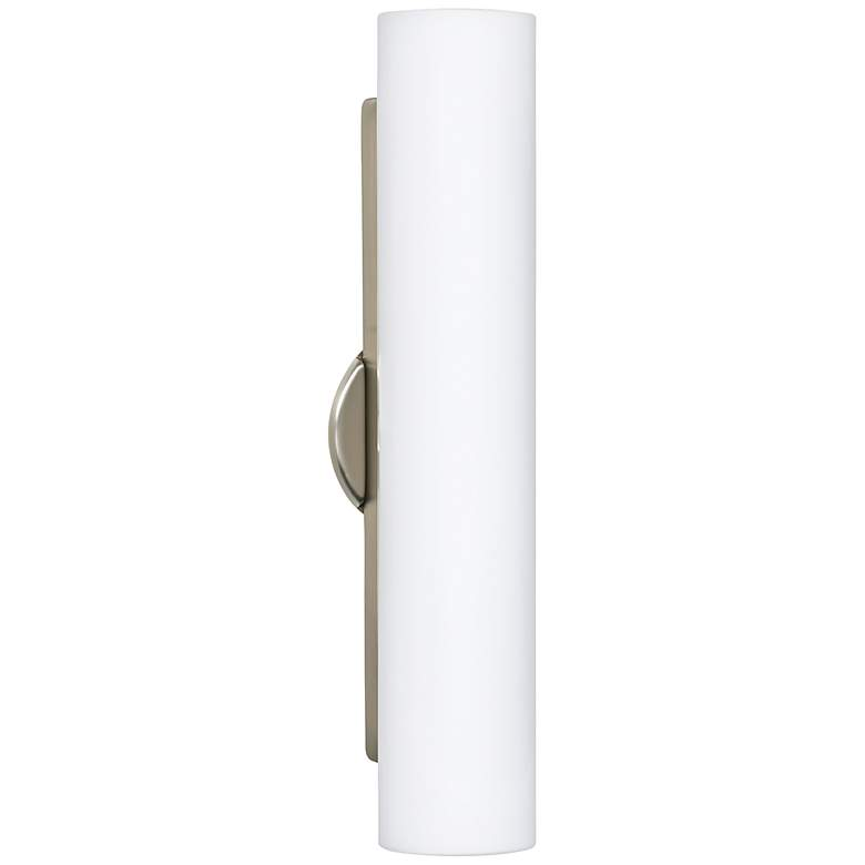 "Besa Baaz 19 3/4"" High Satin Nickel Wall Light Sconce"