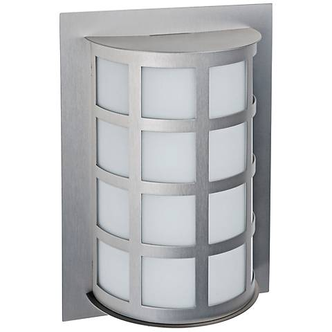 "Besa Scala 13"" High Brushed Aluminum Outdoor Wall Light"