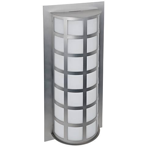 "Besa Scala 20"" High Brushed Aluminum Outdoor Wall Light"