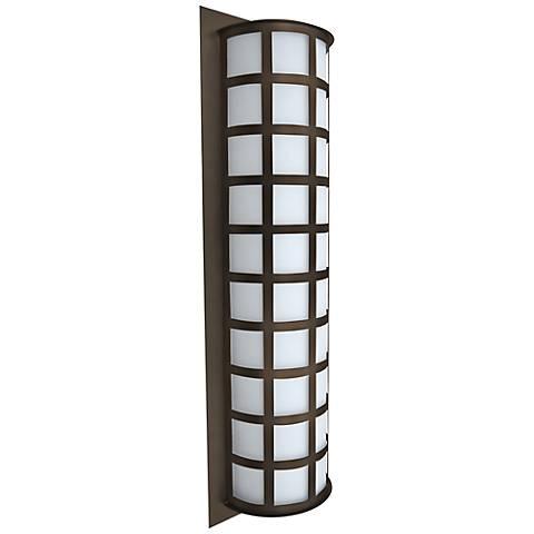 """Besa Scala 28"""" High Bronze Outdoor Wall Light"""