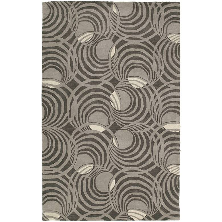 Kaleen Astronomy 3404-68 Lunar Graphite Wool Area Rug