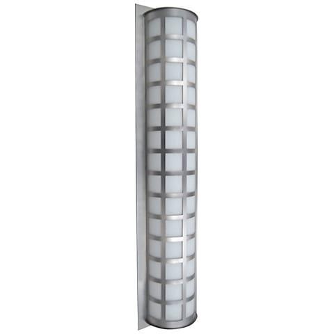 "Besa Scala 40"" High Brushed Aluminum Outdoor Wall Light"