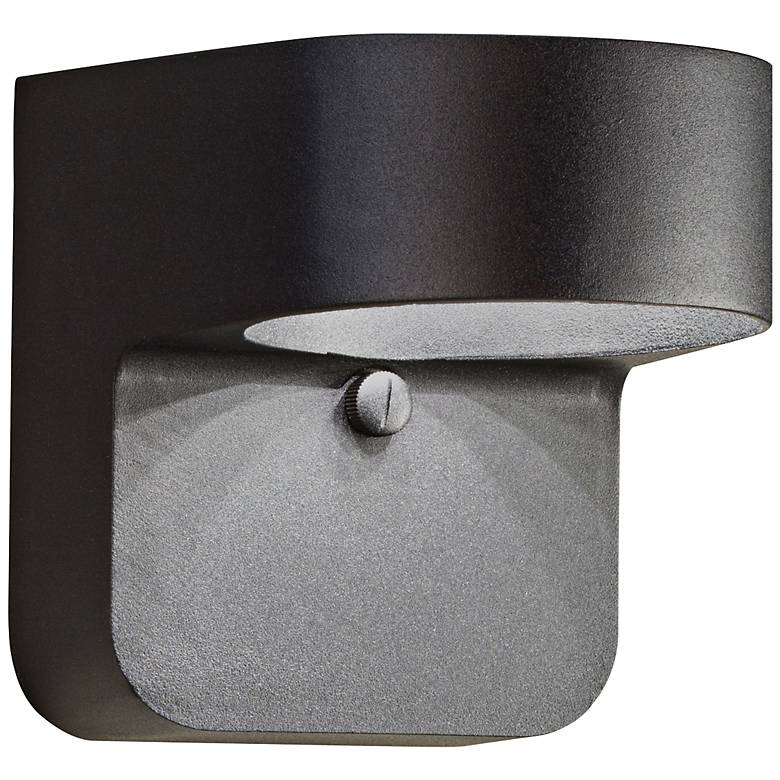 "Kichler Brandt 5 1/2"" High Black Outdoor LED Wall Light"