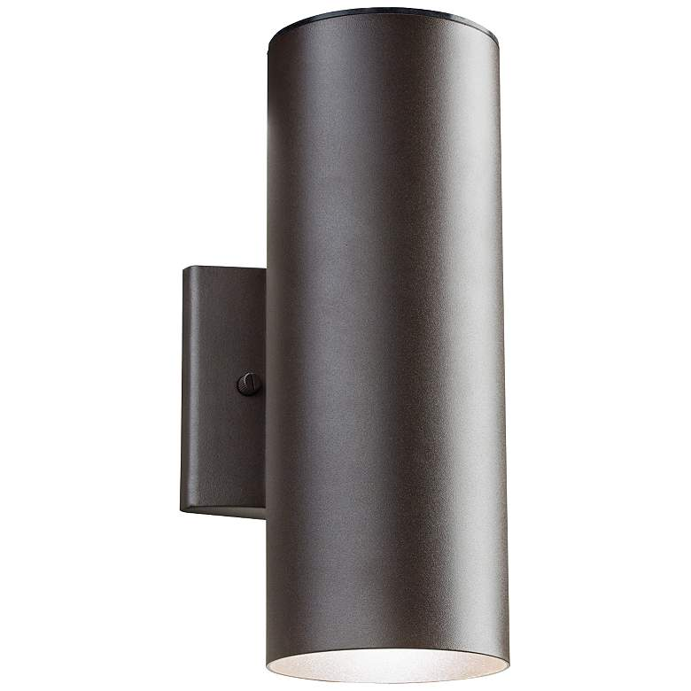 "Kichler Elba 12 1/4""H LED Bronze Outdoor Up/Down Wall Light"