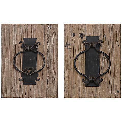 "Uttermost Set of Two Door Knockers 17"" High Wall Art"