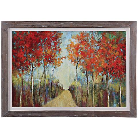 "Uttermost Nature's Walk 42"" Wide Abstract Framed Wall Art"