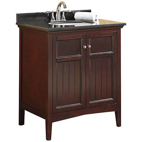 Gavin Modern 30 Wide Brown Bathroom Vanity