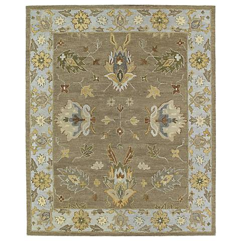 Kaleen Brooklyn 5303-60 Delaney Mocha Wool Area Rug