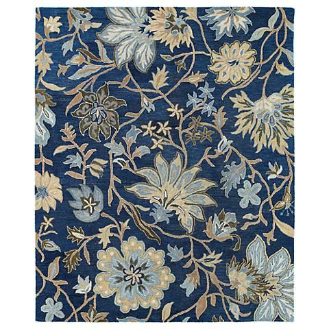 Kaleen Brooklyn 5304 17 Brody Blue Wool Area Rug 4n359