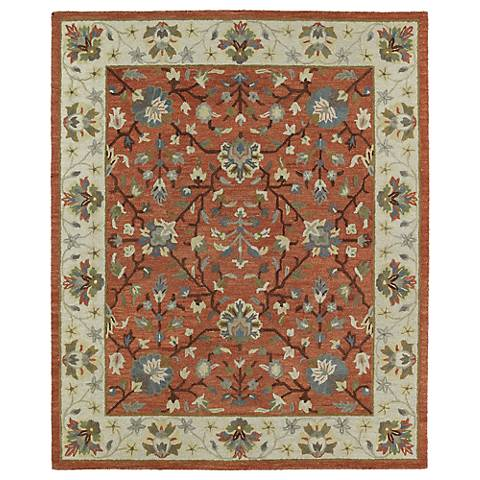 Kaleen Brooklyn 5305-06 Keaton Brick Wool Area Rug