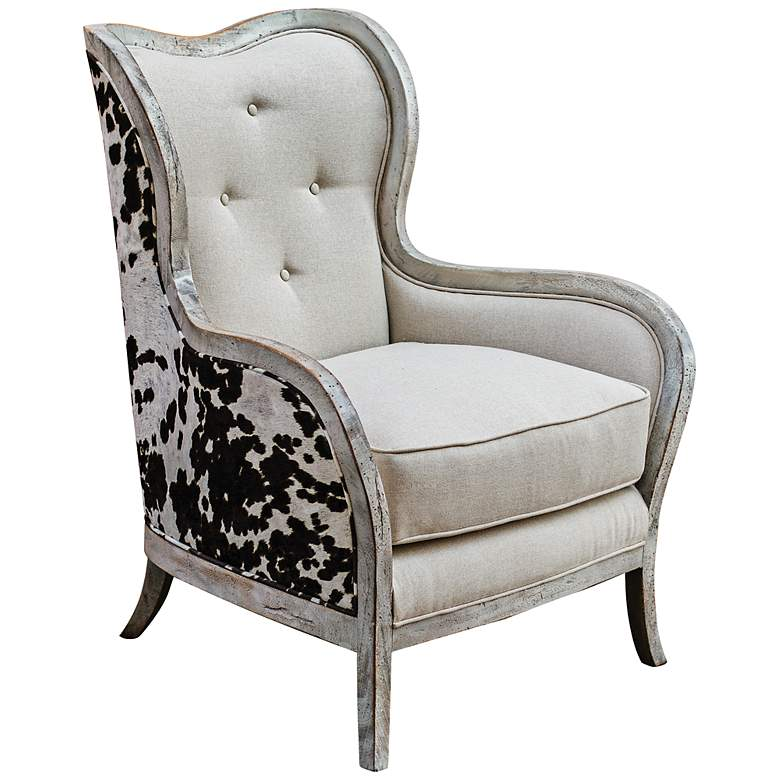 Uttermost Chalina Bone White Armchair