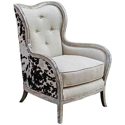 Uttermost Chalina Bone White Armchair