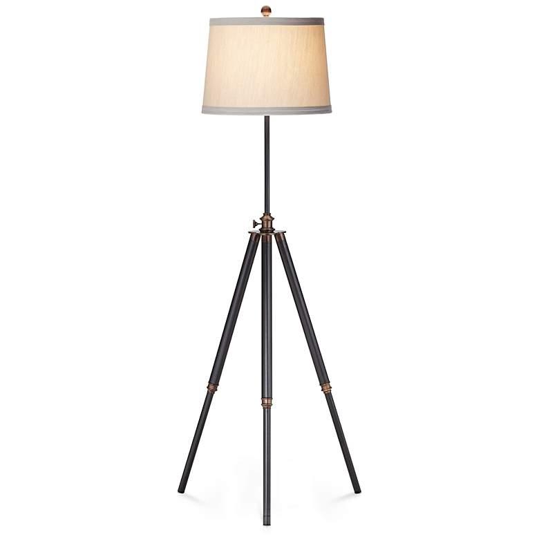 Adjustable Height Antique Bronze Tripod Floor Lamp