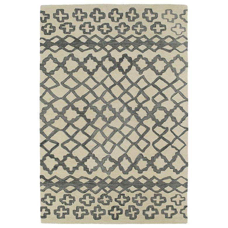 Kaleen Casablanca CAS01-75 Grey Wool Area Rug