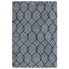 Kaleen Casablanca CAS02-17 Blue 5'x8' Wool Area Rug