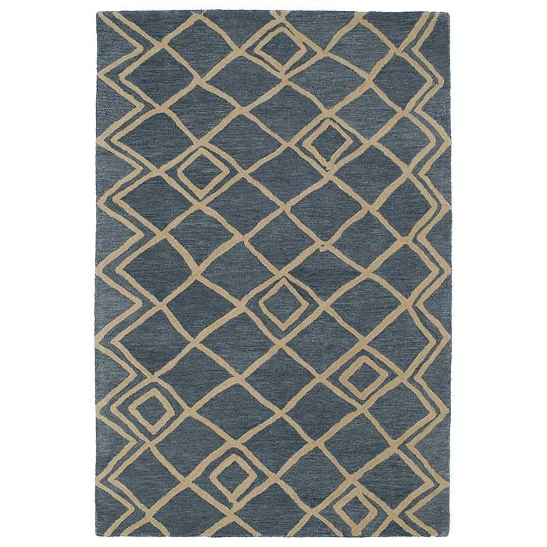 Kaleen Casablanca CAS04-17 Blue 5'x8' Wool Area Rug