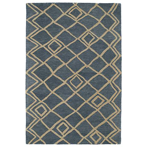 Kaleen Casablanca CAS04-17 Blue Wool Area Rug
