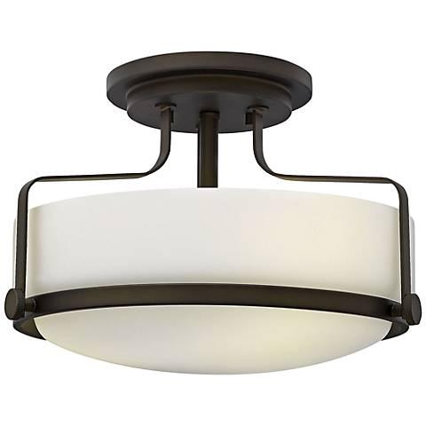 """Hinkley Harper 14 1/2""""W Oil Rubbed Bronze Ceiling Light"""