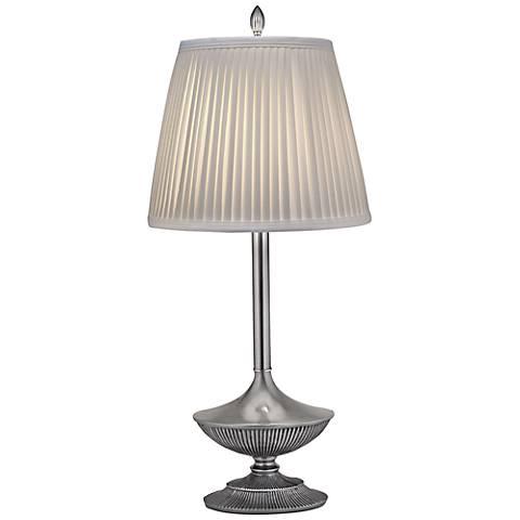 Stiffel Pewter Metal Table Lamp