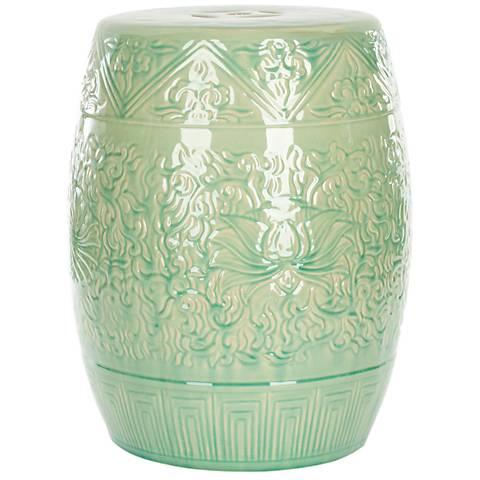 Safavieh Lotus Lime Green Ceramic Garden Stool