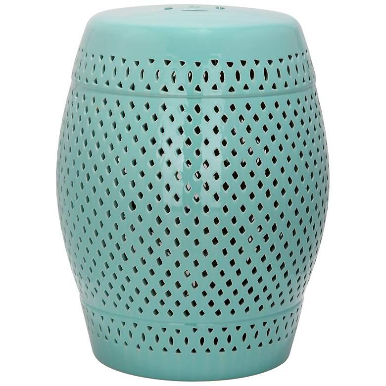 Safavieh Diamond Robbins Egg Blue Ceramic Garden Stool
