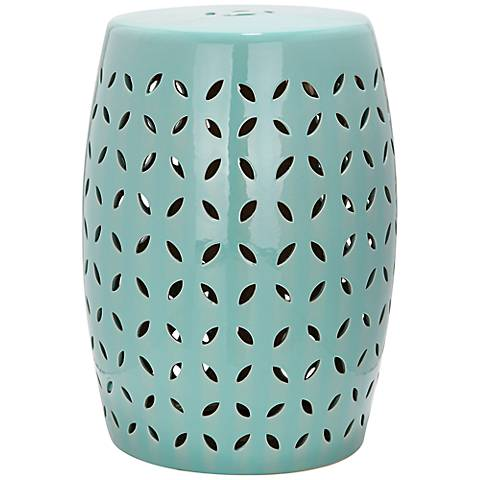Safavieh Lattice Petal Robins Egg Blue Ceramic Garden Stool