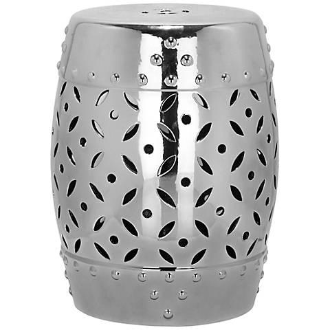 Safavieh Lattice Coin Silver Ceramic Garden Stool